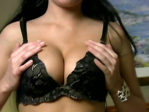 Gorgeous Chloe is playing with her juicy tits