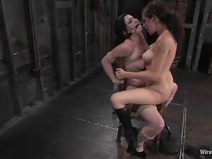 Andy San Dimas gets tied to a chair and gets toyed