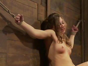 Sexy and filthy hottie Lauren Barnett is loving it in pain