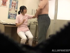 Slutty Asian nurse gives a lucky patient head