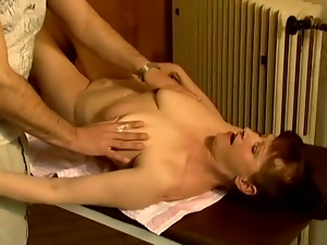 Mature slut Stephanie seduces a masseur and fucks him