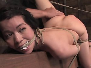 Sexy Asian honey is here to feel so much pain