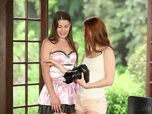 Beautiful ladies have fun in a hot lesbian scene