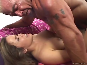 Sexy babe's fucked until her bush is cumshot