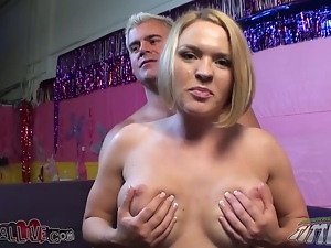 Horny Krissy Lynn gets her pussy licked and toyed rough