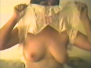 Nasty Ladies Share a Big Meaty Stick in Vintage Video