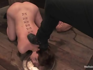 Two submissive girls gets bounded and fucked by a guy