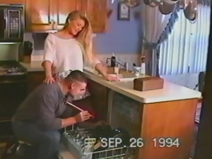 Horny Housewife Blows and Fucks Her Man in Vintage Clip