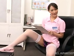 Playful nurse is rising the heat in the hospital room