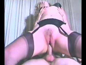 Horny Blonde Takes a Ride On a Big Rod in a Vintage Clip