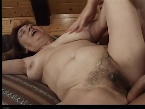 Brunette granny Valda gets her hairy pussy fucked in all known positions