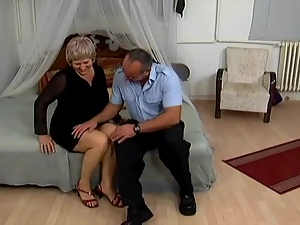 Nasty granny Betty moans loudly while getting her cunt and ass drilled