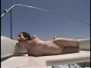 Skinny Nina gets tied up and and tortured outdoors