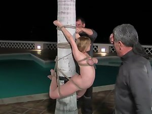 Hot chicks get tied up and humiliated after a pool party