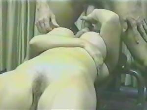 Hot brunette's fucked hard in vintage video