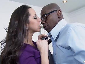 Busty Kaylynn is here to get a huge black cock