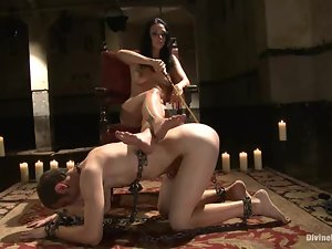 Ms Kim enjoys humiliating and beating a guy called Nomad