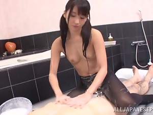 Japanese slut Yuuki Itano gets her pussy fucked deep in a bathroom