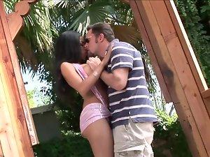 Big-breasted brunette Havana Ginger gets her vag fucked from behind