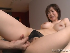 Nanako Mori gets fucked doggy style after sucking a schlong