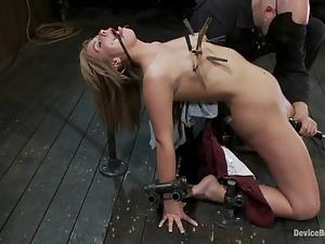 Tara Lynn Foxx gets a few orgasms while being punished in a cellar