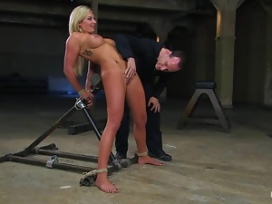 Skylar Price gets her vag fingered and toyed in BDSM video