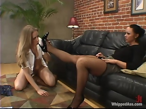 Cute Tina Fine gets dominated and toyed by Cherokee