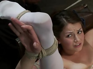Allie Haze gets beaten with a stick and enjoys some naughty toying