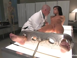 Sexy Cecilia Vega gets tied up and ass fucked by her doctor