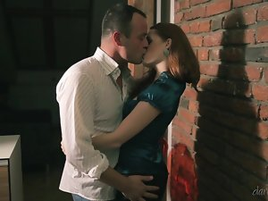 Redhead Denisa Heaven gets fucked late at night