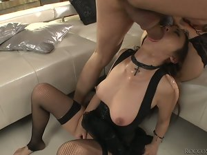 Two lusty babes are sharing that lucky man