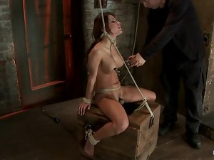 Busty sex slave is sweating for pain she gets