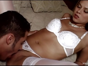 Newlywed Blonde Victoria Swinger Gets Fucked in her White Lingerie