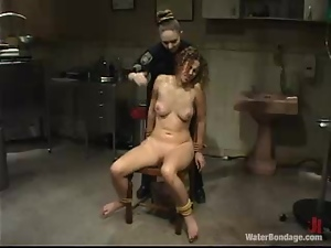 Curly bitch gets tortured and humiliated by her mistress