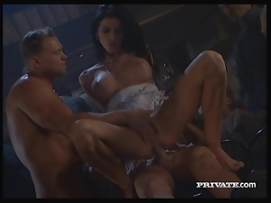 Michela Sabbatini Gets Double Penetrated and Cum Covered in Pub