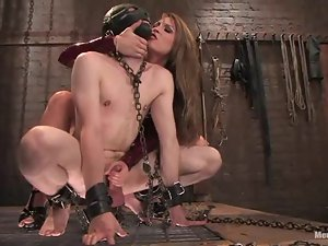 Harmony rides Kade's cock after beating and humiliating him