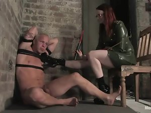 Two gorgeous mistresses are humiliating this fag