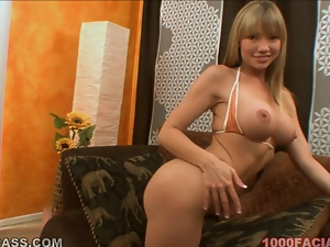 Naughty blond siren Maya Hills is going wild on that dick