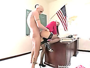 lovely blonde working student fucking her prof for more considerations on her performance