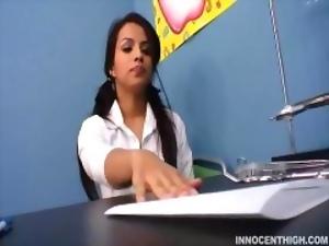 Latina teen schoolgirl has a crush on her teacher