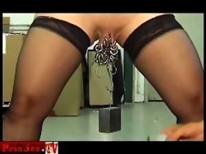 Painsex.tv Pierced extreme mature slave