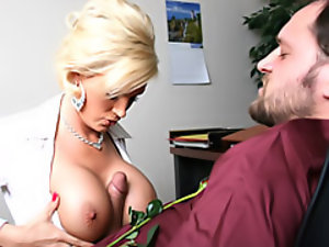 Office slut has huge tits