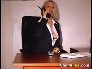 Hot Teen Secretary Masturbating