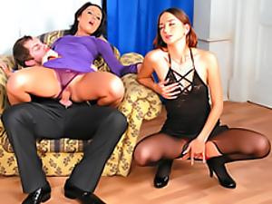 Slut in a purple dress
