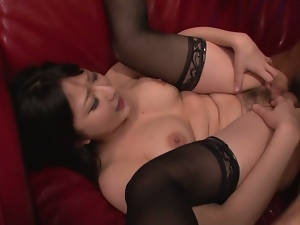 megumi haruka receives tit fuck and hardcore stimulation.nylon rider