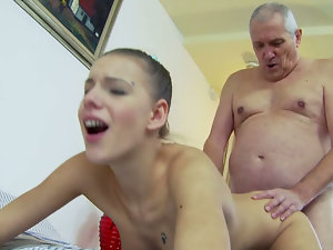 A SHOWER WITH GRANDPA. Part 3
