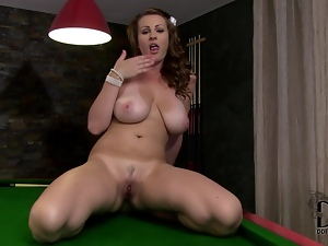Masturbation on a pool table