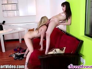 SweetHeart Julia Ann Lesbian Office Sex with Dana