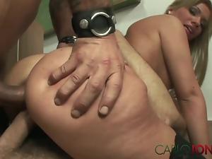 CarloJones Cheating student in anal DP threesome