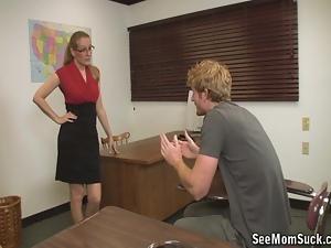 Teacher MILF wants to teach this cock a lesson